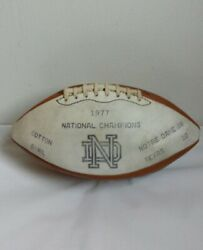Vintage 1977 Cotton Bowl Notre Dame National Champions Wilson Football