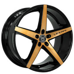 4ea 20 Lexani Wheels R-four Black With Brushed Bronze Face Rimss42