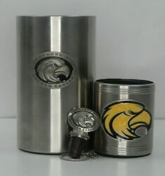 Southern Mississippi Pewter Stainless Steel, Wine Bottle Chiller, Cork Andcan Cozy