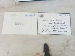 Handwritten Condolence Letter From George H.w. Bush To Widow Of Cliff Evans