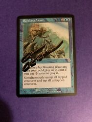 Mtg Magic Breaking Wave Signed Artist Proof Sketch X1 Invasion Carl Critchlow