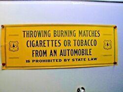 Huge Forest Service Poster Throwing Burning Matches Tobacco Cigarettes From ...