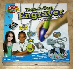 2011 Small World Creative Etch-a-tag Engraver Engraving Kit Ages 9+ New In Box