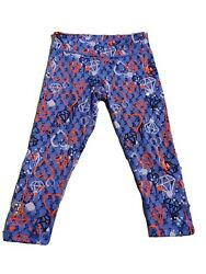 Zumba Convention Crop Leggings Mutlti Colored Z1b01050 Size M Workout