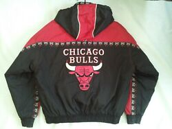 Vintag Pro Player By Daniel Young Chicago Bulls Full Zip With Hood Jacket Siz Xl