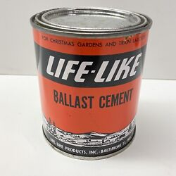 Vintage Life-like Ballast Cement Can 1 Pint Full