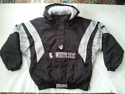 Vintage Starter Chicago White Sox Half Zipp Pullover With Hood Jacket In Size Xl