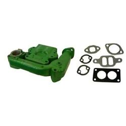 2 Pc Intake And Exhaust Manifold W/ Gaskets Fits John Deere Tractor Model 50
