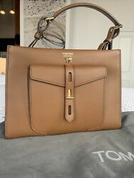 Tom Ford Hollywood Leather T Twist Small Top Handle Bag