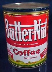 Vintage Butternut Coffee Tin With Lid Large Size Paxton Gallagher Omaha