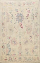 Vegetable Dye Authentic Oushak Turkish Oriental Area Rug Hand-knotted Wool 9x11