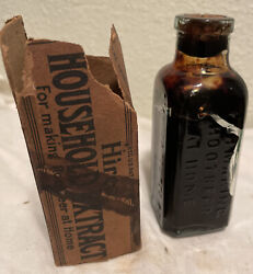 Vintage Charles Hires Root Beer Household Extract Bottle And Box 1890's