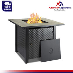 Camplux 30 In Propane Fire Pit Table, Outdoor Gas Fire Table With Cover