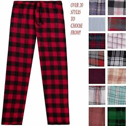 Men#x27;s Cotton Flannel Plaid Pajama Sleep Pants Super Soft Lounge Bottoms PJ#x27;s $12.89