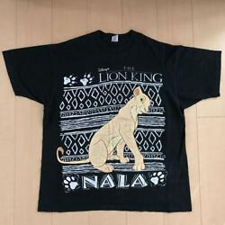 The Lion King Nala 90and039s Menand039s T-shirt Single Stitch Color Black Used Disney Rare