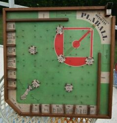 Antique Authentic Lou Gehrig Plaball Wooden Board Game Board Rare