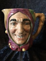 Royal Doulton Character Toby Jug Touchstone Rd.no.807472 Hand Painted Jester
