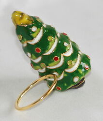 Cloisonne Tree Napkin Rings From Williams Sonoma New With Box Set Of 4 Sold Out
