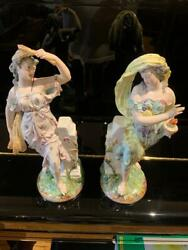 Pair Of Miessen Hand Painted