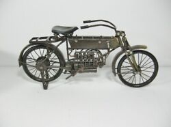 Vintage Tin Plate Wwi Style Henderson Motorcycle 110 Scale 12 Long 11m