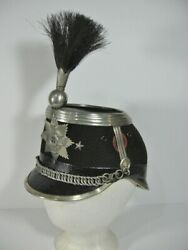 Wwi Danish Swiss Royal Cavalry Dress Officers Shako With Horsehair Plume 10m