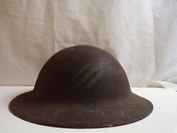 Ww-1 Doughboy Helmet With Period Applied 3rd Inf. Division Insignia.