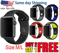 For Apple Watch Sport Band Silicone Iwatch Series 6 Se 5 4 3 40mm 44mm 38mm 42mm