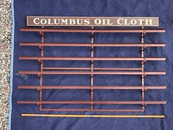 Vintage 1920's-1930's Columbus Oil Cloth Tin Wall Display/rack - Excellent Shape