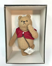 R. John Wright Vintage 8 Winnie The Pooh Mohair Plush In Box With Hang Tag