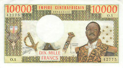 Zentralafrikanische Republik Central African Republic 10000 Francs Nd 1978 P8