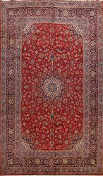 Vintage Traditional Floral Area Rug Wool Hand-knotted Oriental Red Carpet 8x12