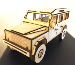 Land Rover 110 Lwb 3d Puzzle Birch Plywood Laser Craft, Model, Collectible
