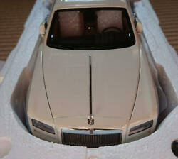 1/18 Scale Kyosho Rolls Royce Ghost Color White Die Cast Mini Car With Case Rare