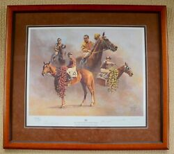 Fred Stone Framed Ltd. Ed. American Triple Crown 1937-1946 + Signatures