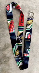 Jagermeister Lanyard Keychain Ring / Id Badge Holder Clip New