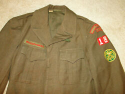 Vintage Boy Scouts Of America Patches Uniform Bsa Jacket Shirt And Pant Wwii