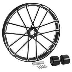 18/21/23/26/30and039and039 Front Wheel Rim Hub Dual Disc For Harley Touring Road King 08+