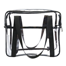 Toiletry Bags Makeup Tote Bags Cases Plastic Bag Clear PVC Travel Bag Brushes $19.86