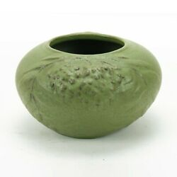Van Briggle Pottery 1905 Vase Unknown Shape Arts And Crafts Matte Green Red Clay
