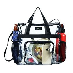 Clear Bag Stadium Approved Transparent See Through Clear Tote Bag for Work ... $19.31