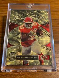 2020 Panini Spectra Clyde Edwards-helaire Gold Vinyl Rookie Aura 1/1