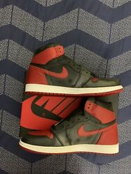 Nike Air Jordan 1 Retro High OG Size 11.5 Banned Red Black 2016 555088 001