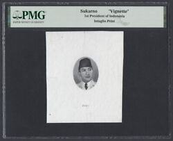 Indonesia Proof Vignette Of Sukarno Used On The Banknote 1948 Issue By Sbnc
