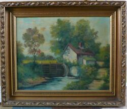 Original Oil By Welsch 'the Mill' Talented/ Very Good 22 X 26