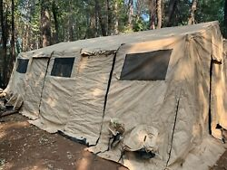 Us Military Hdt Base-x 305 Tent Shelter 18' X 25' Green Or Tan - B Grade