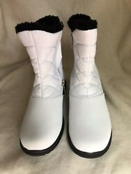 Totes White Winter Boots With Zipper Women 6 $38.00