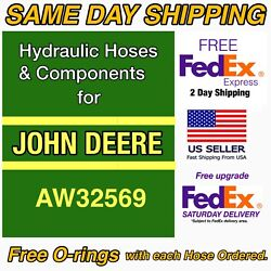 John Deere Aw32569 Hydraulic Hose Upgrade - Replaces Aw32569 Factory Specs