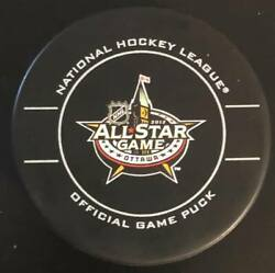 2012 Nhl All-star Official Game Puck For The Game Played In Ottawa, Ontario.