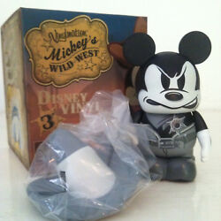 Disney Vinylmation 3 Mickey Mouse Wild West Angry Sheriff Black And White Variant
