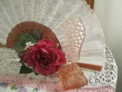Vintage Czech Perfume/scent Bottle, 5.75 Tall, Pink Grapes Signed